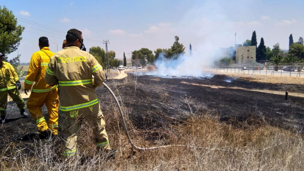American and Israeli firefighters in southern Israel, Photo, EVP