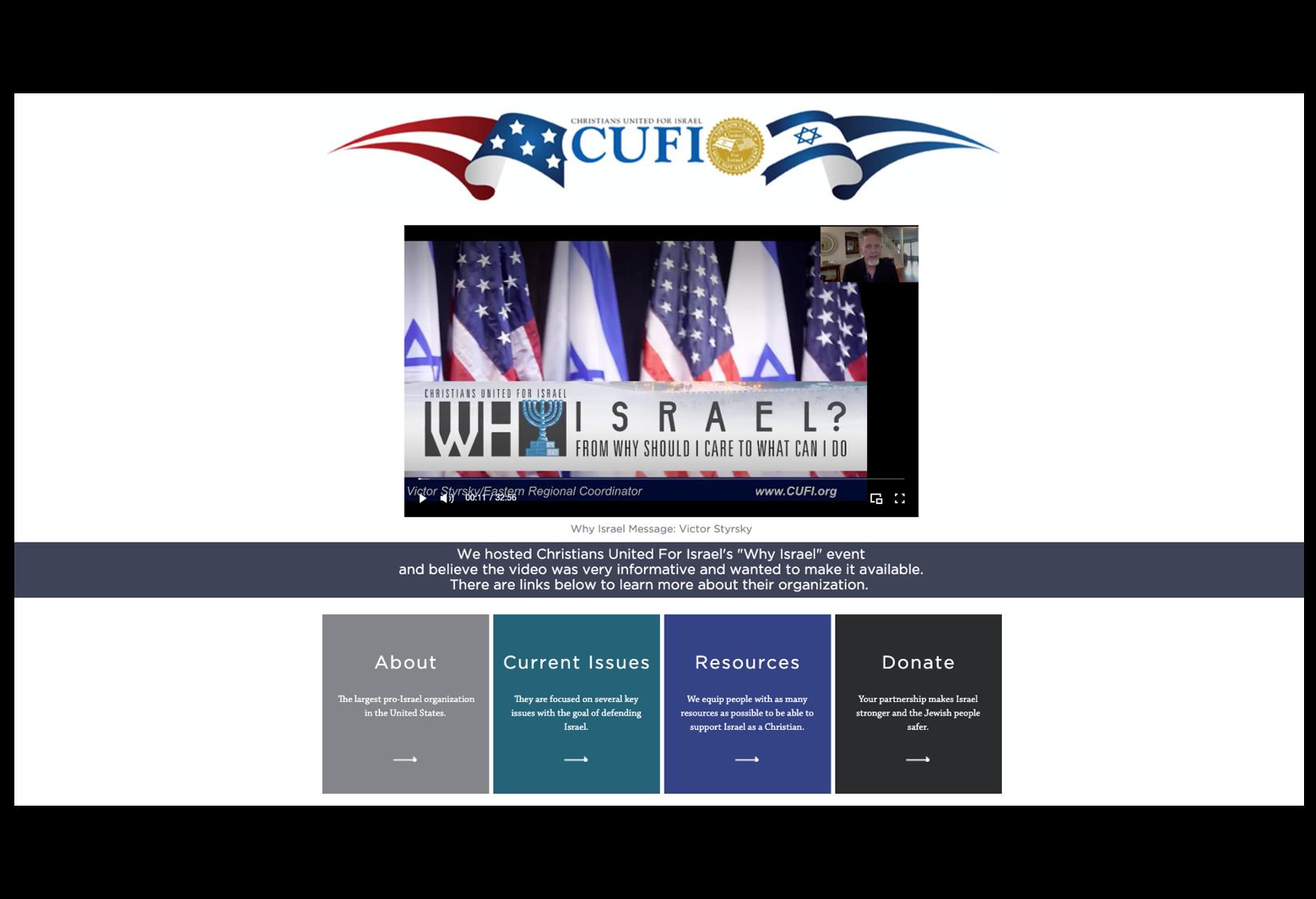 November 1 - Why Israel?