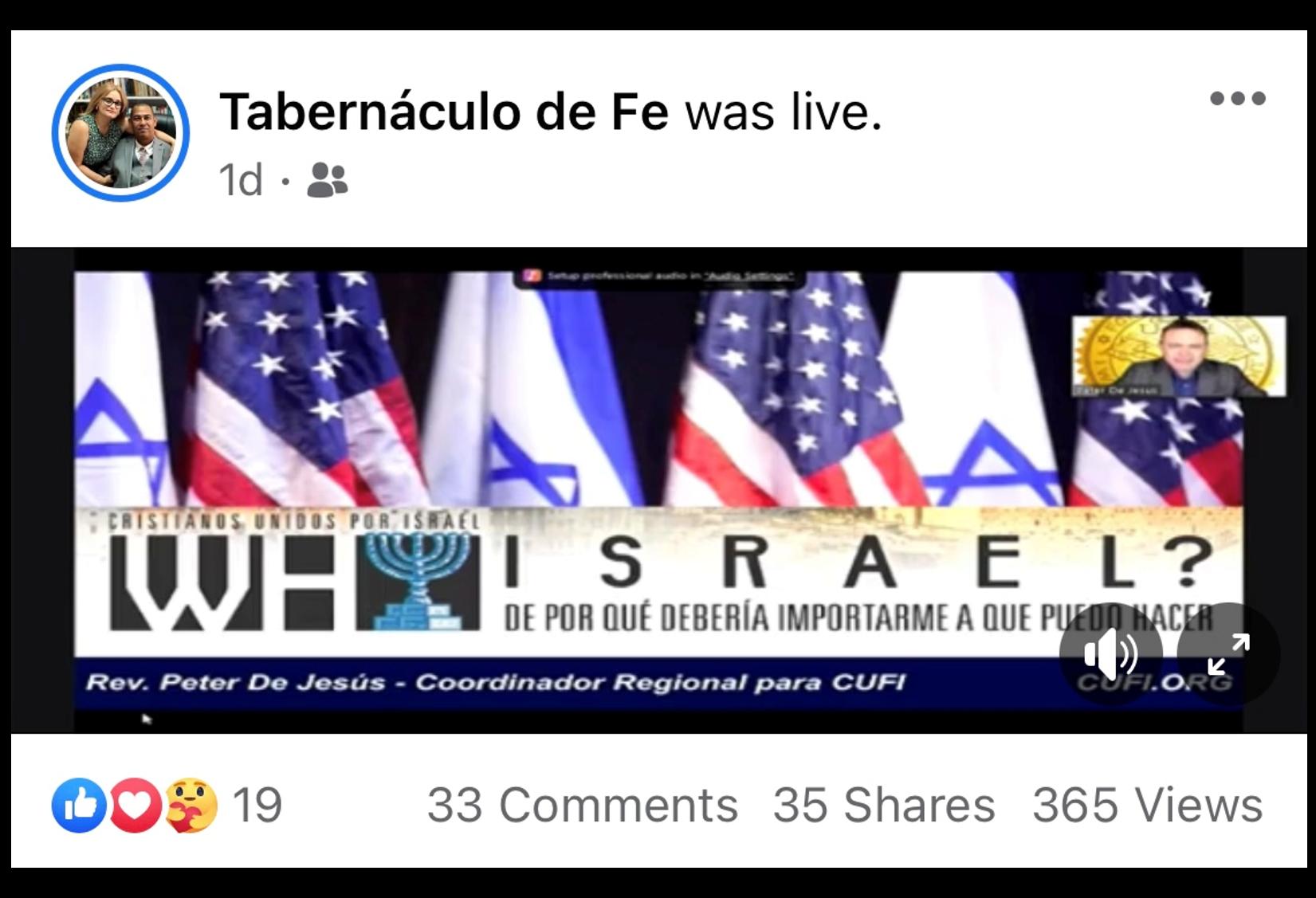 January 12 - Spanish Why Israel?